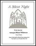 A Silent Night Flute quartet by Di  -PDF Download