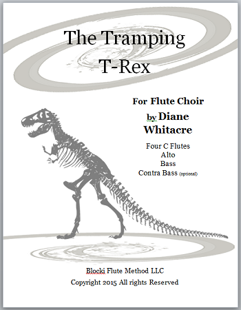 The Tramping T-Rex for flute choir