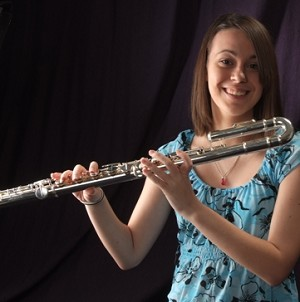 The DZ-Alto Flute with curved head joint